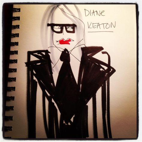 #DianeKeaton #goldenglobes #illustration #paulamangin #blankstareblink