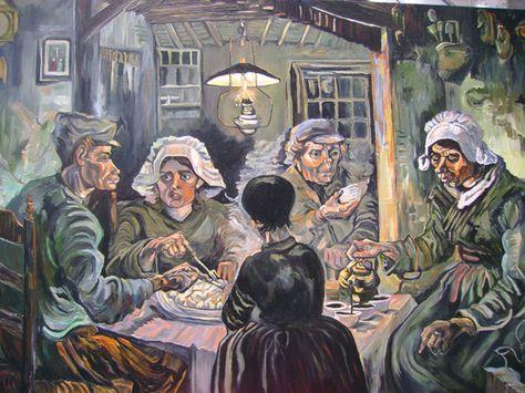 LOS COMEDORES DE PATATAS Oleo sobre lienzo, pintado por Van Gogh en ...