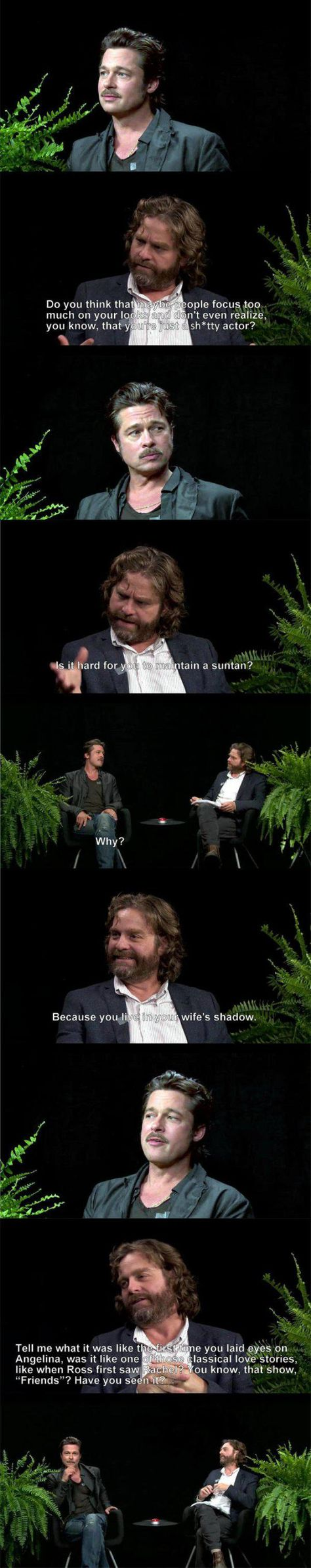 "Brad Pitt on ""Between Two Ferns"""