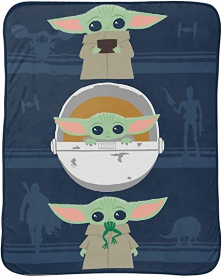 Jay Franco Star Wars The Mandalorian Lsquo The Child Rsquo Baby Yoda 46 Quot X 60 Quot Plush Throw In 2021 Plush Throw Star Wars Blanket Christmas Gifts For Kids