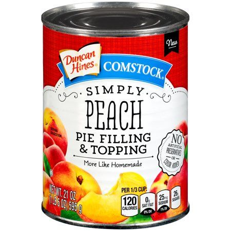 Duncan Hines Comstock Peach Pie Filling And Topping 21 Oz Walmart Com Peach Pie Filling Peach Pie Pie Filling
