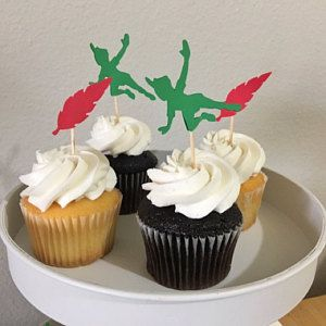 Peter Pan Neverland Cupcake Toppers Birthday