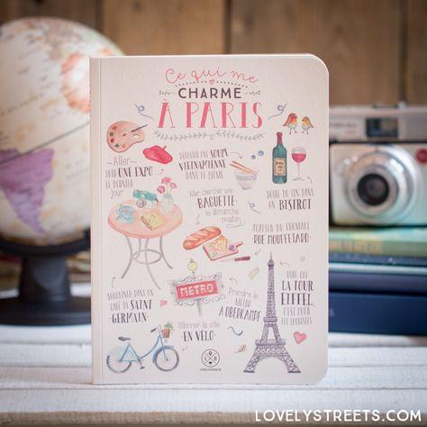 Libreta Lovely Streets - Ce qui me charme à Paris (FR)