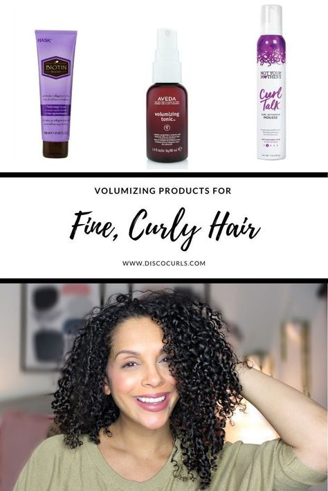 Volumizing Products for Fine Curly Hair - DiscoCurls -  Volumizing Products for ...#curly #discocurls #fine #hair #products #volumizing