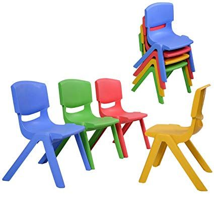 Costzon Kids Plastic Table Chair Learn And Play Activity Set School Home Furniture Chairs Set Of 2 Review Kids Plastic Chairs Kids Chairs Toddler Chair
