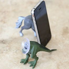 Smartphone stand from dollar store toy - maybe for Father's Day ?