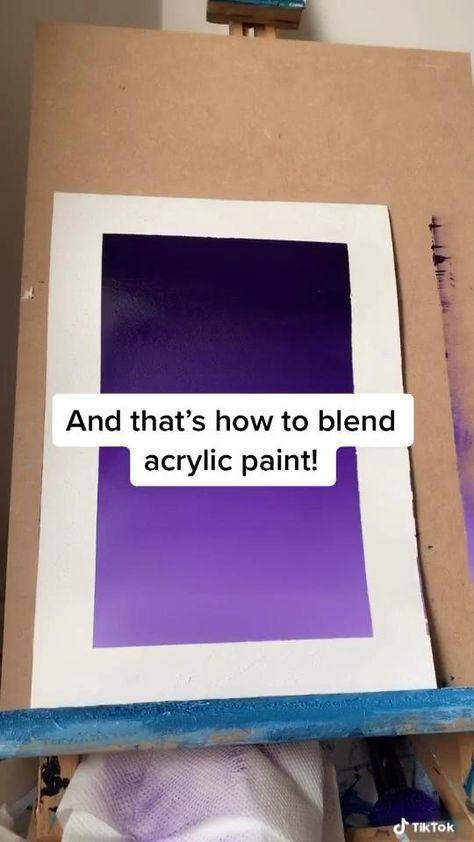 Acrylic Painting Blending Technique - Easy Tutorial