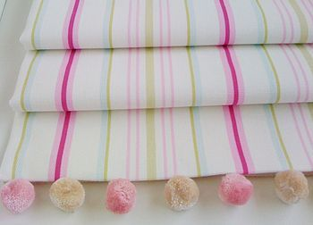 Pink Striped Roman Blind