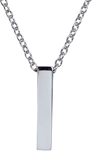 b474801878d51 Amazon.com: Zoey Jewelry Single Cube Pendant Necklace Cremation Urn ...