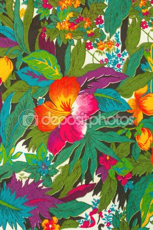 Textil, tropical de flores — Foto de Stock