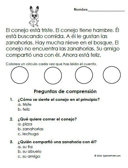 Easy Spanish Readers. Lectura Para Principiantes. Practica. Comprehension  Passage, Spanish Reading Comprehension, Reading Comprehension