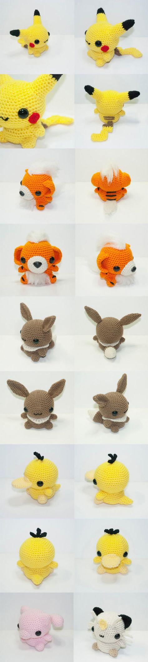 Starter Pokemon :) Gotta learn to crochet more things!!! :D | My ...