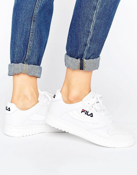 FILA FX100 SNEAKERS IN WHITE WHITE. #fila #shoes # | Fila