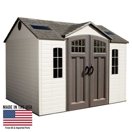 Lifetime 10 Ft X 8 Ft Outdoor Storage Shed With Images Lifetime Storage Sheds Outdoor Storage Shed