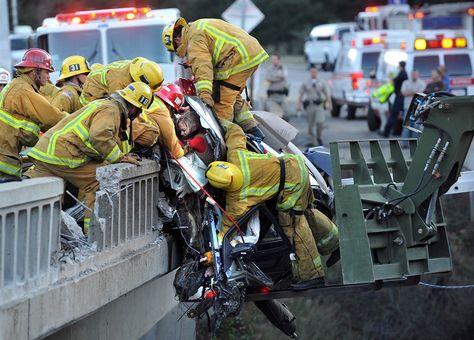 Heroic Rescue on California Freeway Bridge saving Kelli Lynne Groves and her Two Daughters