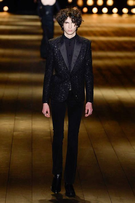 Saint Laurent Fall 2018 Ready-to-Wear Collection - Vogue Model: Rubens Guez