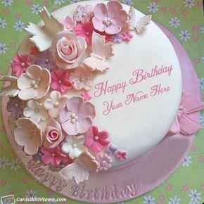Design Stylish Birthday Cake For Girls Name Maker Cakes With Name Generator 8th Birthday Cake Birthday Cake Writing Birthday Cake Write Name