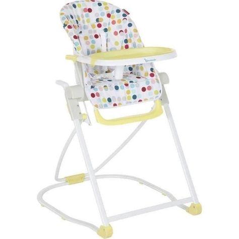Badabulle Chaise Haute Compacte Confetti Jaune In 2020 High