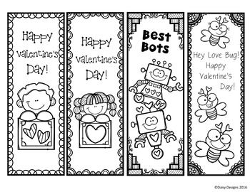Free Valentine S Day Bookmarks By Daisy Designs Teachers Pay Teachers Printable Valentine Bookmarks Printable Valentines Cards Valentines Printables Free