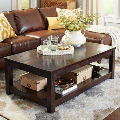 Parsons Large Tobacco Brown Coffee Table Brown Coffee Table Coffee Table Large Square Coffee Table