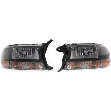 1997 2004 Dodge Dakota Clear Head Light Set Of 2 Lens And Housing Dodge Dakota Dodge Headlights