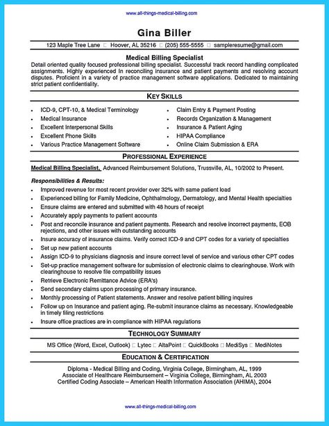 14 Medical Billing Resume Samples Riez Sample Resumes Riez - medical device resume