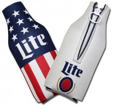 Miller Lite 12oz Neoprene Can Coozy Personalized for Free Miller Lite Huggie