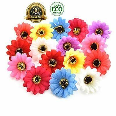 Silk Flowers In Bulk Wholesale Fake Flowers Heads Silk Sunflowers Multicolor In 2020 Flower Decorations Fake Flowers Wedding Flower Decorations