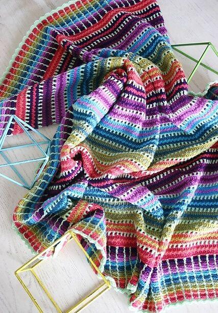 Skittles Blanket Crochet Free Pattern | Haken, Patronen, Deken