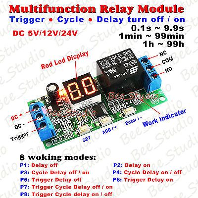 Ad Ebay Url Dc 5v 12v 24v Multifunction Digital Led Infinite Delay Switch Timer Relay Module Relay Electronic Circuit Projects Cycle
