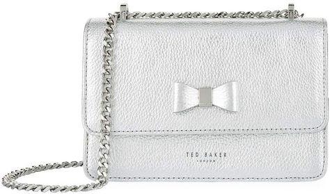 dd9a53ce0ac95 Ted Baker Draya Bow Detail Metallic Bag