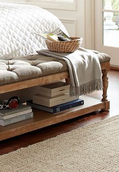 Furniture White Upholstered End Bed Bench Design With Shelf White