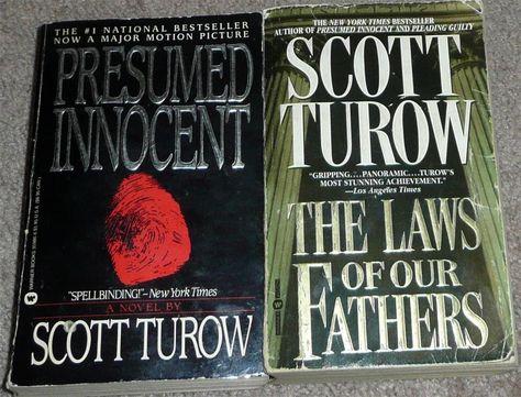 2 Paperback Novels by Scott Turow Presumed Innocent \ The Laws of - presumed innocent author