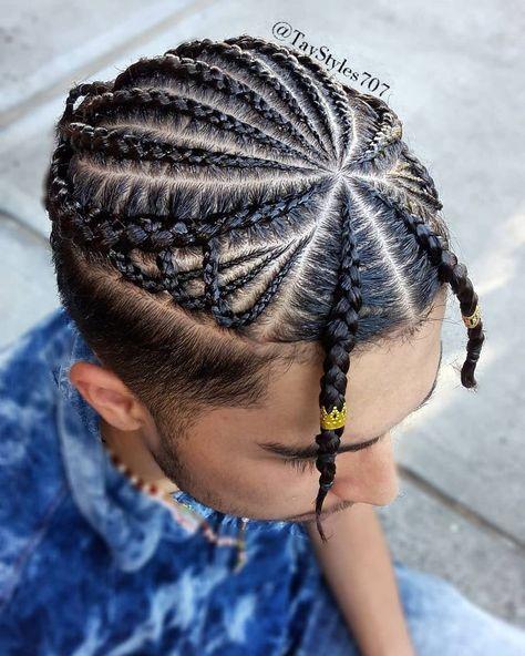Braids by me @TayStyles707 cornrows, manbun, mensbraids, braid design, braids fo...   - DadsBraids - #braid #Braids #cornrows #DadsBraids #Design #fo #manbun #mensbraids #TayStyles707