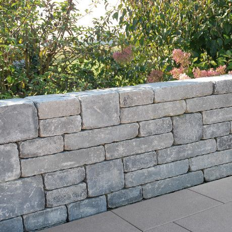 Spring Modo Mauersystem Fur Niedrige Stutzende Und Freistehende Mauern Steinmauer Garten Gartenmauern Mauersysteme