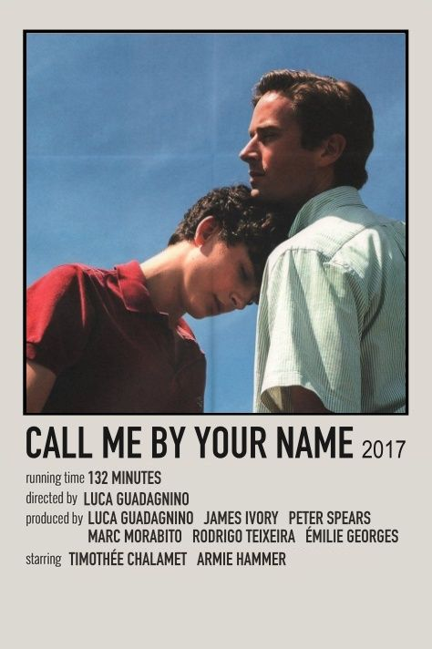 call me by your name movie print