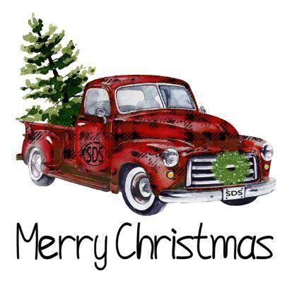 Buffalo Plaid Christmas Christmas Red Truck Christmas Truck Christmas Tree Truck