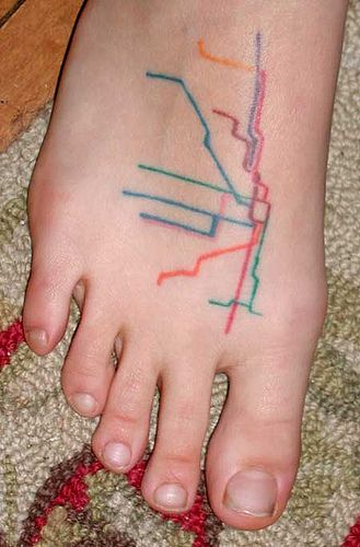 this site's got a lot of good map tattoos, if you're into that sort of thing