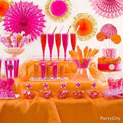 Fine Backdrop Highchair Banner With Hot Pink Blush Gold Orange Birthday Cards Printable Inklcafe Filternl