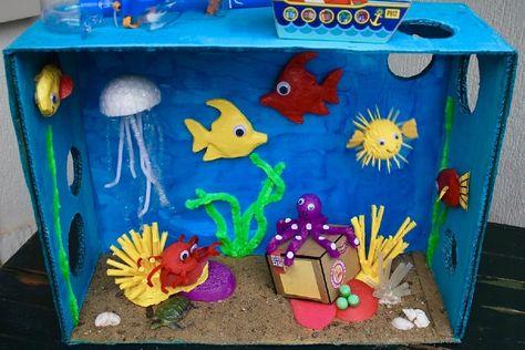 Hoe knutsel je een onderwaterwereld? | onderwaterwereld knutselen | knutselen | zomerknutsels | oceaan knutselen | zee knutselen | onderwaterwereld | kinderknutsels | onder water knutselen | Hoe knutsel je een onderwaterwereld?