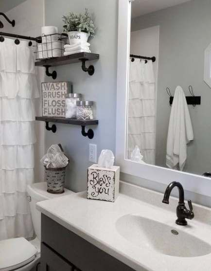 Farmhouse Bathroom Shower Curtain Hooks 50 Ideas Farmhouse