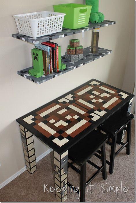 Minecraft Wall Art Idea Large Wood Minecraft Characters Keeping It Simple Minecraft Room Decor Minecraft Bedroom Decor Minecraft Bedroom