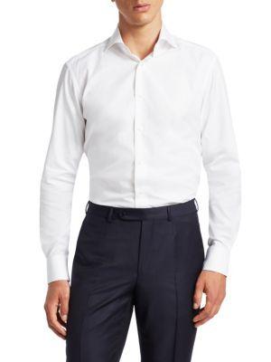 2529a2f3 ERMENEGILDO ZEGNA Slim-Fit Textured Cotton Dress Shirt ...