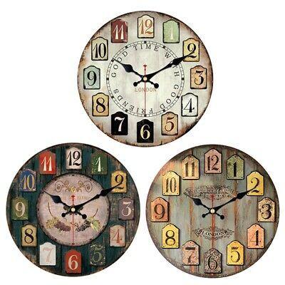 1x Modern Design Fashion Silence Round Big Wall Clock Conference