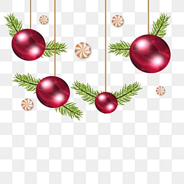 Red Christmas Balls With Pine Fur And Candy Christmas Gift Merry Christmas Xmas Holiday Png Transparent Clipart Image And Psd File For Free Download Merry Christmas Vector Merry Christmas Text Red