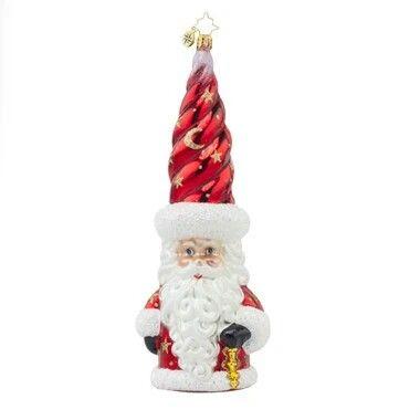 Radko Santa Naughty Or Nice Christmas Checklist Glass Ornament Made in Poland