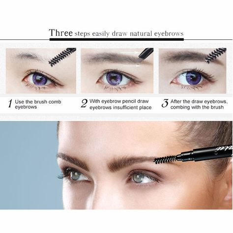 Type: Eyebrow Enhancer Benefit: Long-lasting Benefit: Easy to Wear Benefit: Natural Brand Name: HALU Quantity: 1pcs With box Size: Full Size Ingredient: brand makeup NET WT: 20g Formulation: Pencil Model Number: AA+double effect dual purpose Waterproof / Water-Resistant: Yes package: Picture on the box Suage5: women brown eyebrow pencil waterproof eye brow Name2: sobrancelhas/sombrancelha/ NAME: lapiz de cejas/crayon sourcils/matita sopracciglia/lapis de olho Color: Gray/Brown/dark brown eyebrow