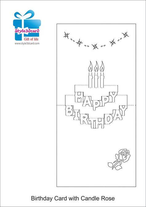 Открытка киригами торт схема сборки, днем рождения коллеге