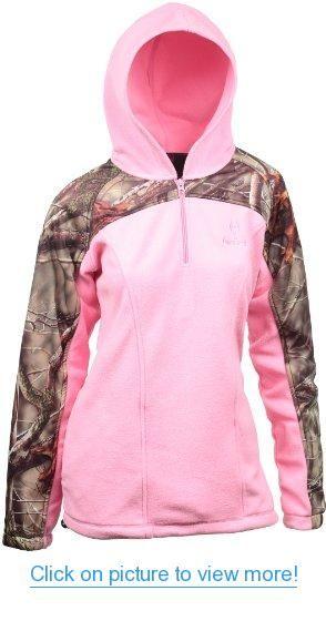 Huntworth Women's 2 Tone Fleece 14 Zip Pullover with Hood