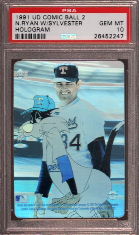 1991 Upper Deck Comic Ball 2 Holograms Nolan Ryan Hof Psa 10